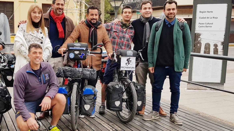 Jóvenes de Biciventura visitan La Rioja