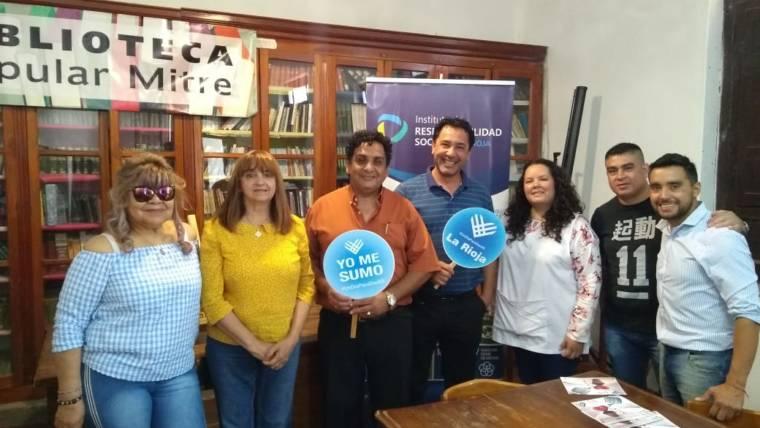 "Promocionando jornada solidaria #UnDiaParaDarAr"" en Chamical"