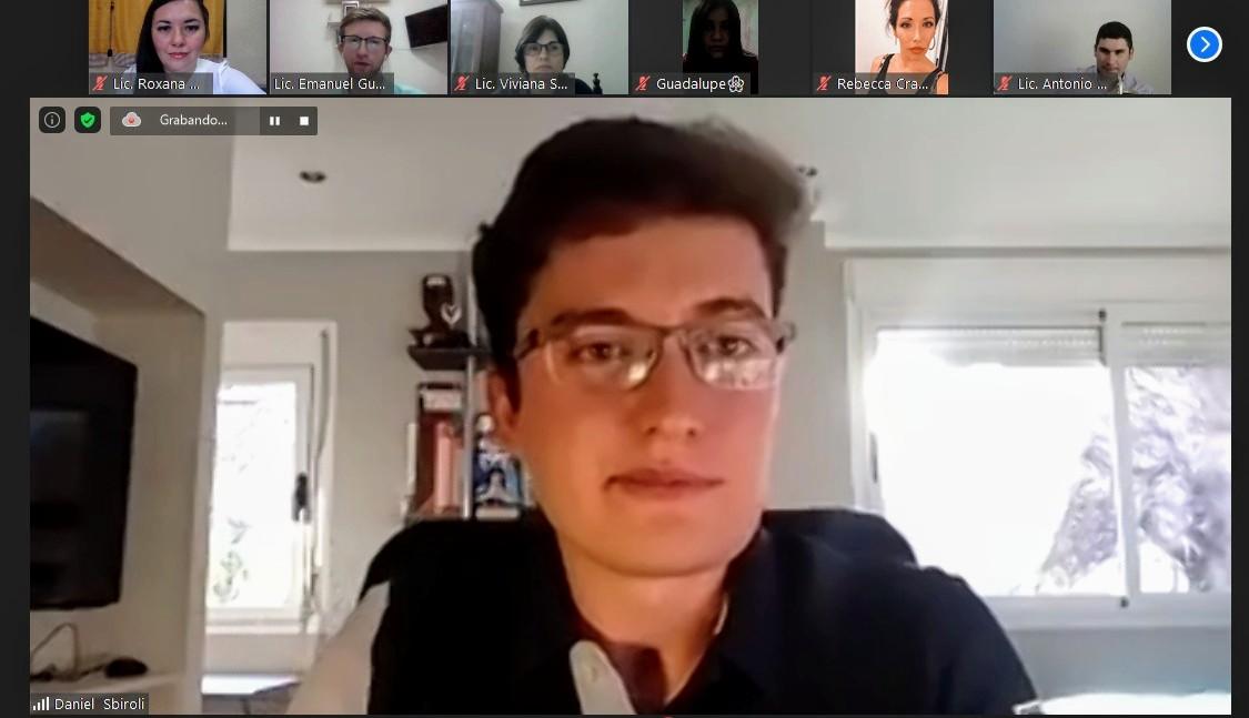 Emotivo testimonio de superación brindó Daniel Sbiroli en charla virtual